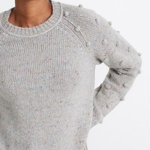 🍒NWT🍒 MADEWELL POM SLEEVES CREW NECK PULLOVER